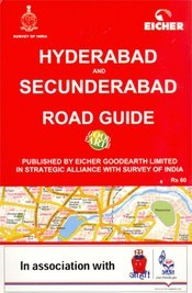 Hyderabad and Secunderabad térkép - Eicher Goodearth