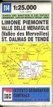 Liemone Piemonte - Val de Merveilles térkép (No 114) - IGC