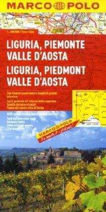 Liguria, Piemont, Aosta-völgy térkép - Marco Polo