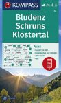 Bludenz, Schruns, Klostertal turistatérkép (WK 32) - Kompass