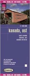 Kanada (keleti rész) térkép - Reise Know-How