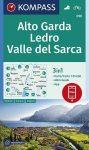 Alto Garda, Ledro, Valle del Sarca turistatérkép (WK 096) - Kompass