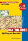 Észak-Bajorország minden városa atlasz - Falk