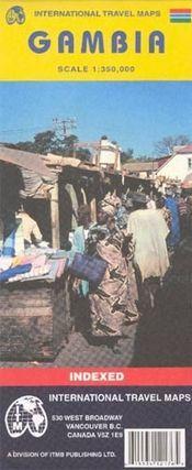 Gambia térkép - ITM
