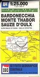 Bardonecchia - Monte Thabor - Sauze d'Oulx térkép (No 104) - IGC