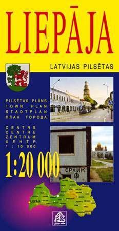Liepaja térkép - Jana Seta