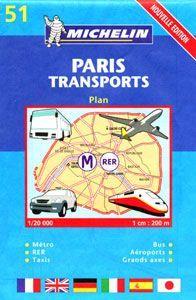 Párizs közlekedési térkép - Michelin