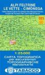 Alpi Feltrine, Le Vette, Cimònega térkép (023) - Tabacco