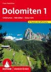 Dolomitok (1), német nyelvű túrakalauz - Rother