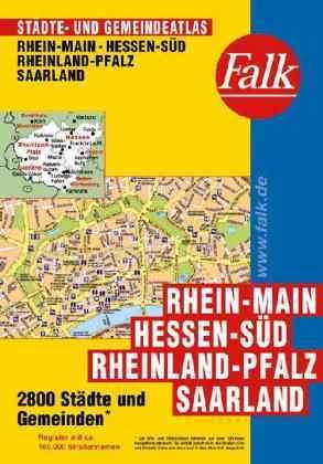 Hessen, Rajna-Pfalz és a Saar-vidék minden városa atlasz - Falk