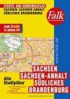 Szászország, Szász-Anhalt és Dél-Brandenburg minden városa atlasz - Falk