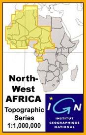 Dakar térkép - Topographic Maps of NW Africa