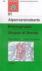 Brentagruppe - Alpenvereinskarte 51