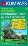 Hersbrucker Land in der Frankenalb turistatérkép (WK 172) - Kompass