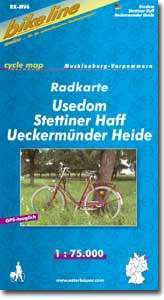 Usedom - Stettiner Haff - Ueckermünder Heide kerékpártérkép - (RK-MV 6)