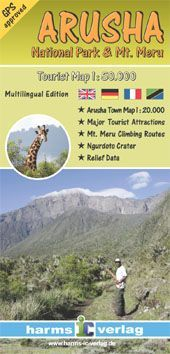 Arusha Nemzeti Park térkép - Herms