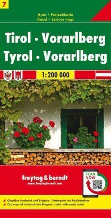 Tirol, Vorarlberg autótérkép - Freytag-Berndt