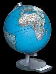Politikai, világítós földgömb, fekete talp - 28 cm