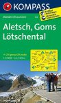 Aletsch, Goms & Lötschental, hiking map (WK 122) - Kompass