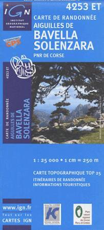 Aiguilles de Bavella / Solenzara - IGN 4253ET