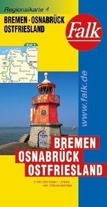 Bremen, Osnabrück, Ostfriesland autótérkép - Falk
