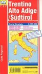 Trentino - Alto Adige / Südtirol autótérkép - LAC
