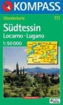 Dél-Ticino turistatérkép (WK 111) - KOMPASS