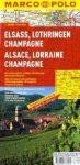 Elzász, Lotaringia és Champagne térkép - Marco Polo