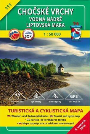 Kócs-hegység, Liptószentmáriai-tó turistatérkép (111) - VKÚ