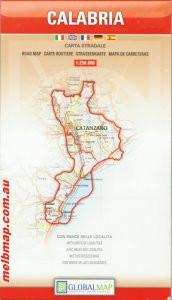 Calabria autótérkép - LAC