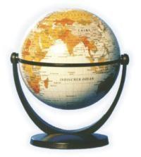 Csodagömb (11 cm) - fehér földgömb 881076