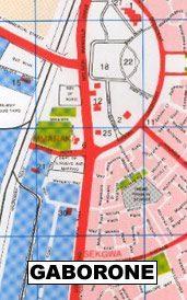 Gaborone térkép - Botswana Survey