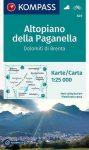 Altopiano della Paganella turistatérkép (WK 649) - Kompass