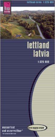 Lettország térkép - Reise Know-How