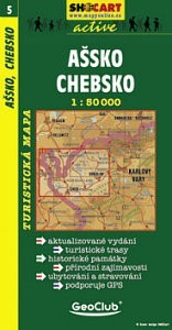 Ašsko, Chebsko turistatérkép - SHOCart 5