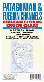 Patagonian & Fuegian Channels: Chilean Fjords Cruise Chart térkép - Zagier y Urruty
