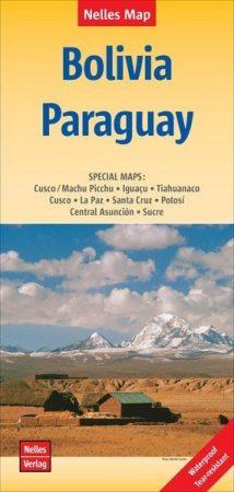 Bolívia és Paraguay térkép - Nelles