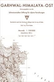 Garhwal Himalaya East térkép - SSAF