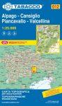 Alpago, Cansiglio, Piancavallo, Valcellina térkép (012) - Tabacco