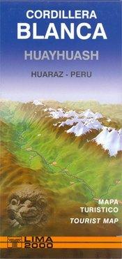 Cordillera Blanca & Huayhuash turistatérkép - Editorial Lima 2000