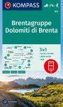 Dolomiti di Brenta, Via delle Bocchette turistatérkép (WK 073) - Kompass