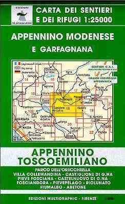 Appennino Modenese - Garfagnana térkép (No 18 ) - Multigraphic