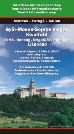 Győr-Moson-Sopron megye térkép - Szarvas & Faragó & Sollun