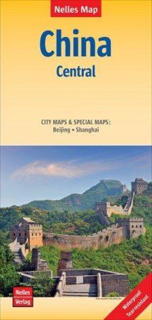 Kína középső része térkép - Nelles