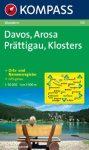 Davos, Arosa, Prättigau, Klosters turistatérkép (WK 113) - Kompass