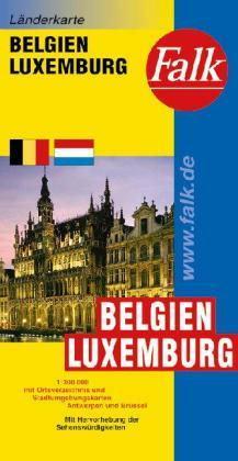 Belgium és Luxemburg autótérkép - Falk
