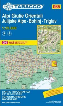 Júliai-Alpok térkép - Tabacco