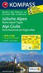 Júliai-Alpok, Triglav Nemzeti Park turistatérkép (WK 064) - Kompass