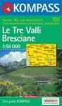 Le Tre Valli Bresciane turistatérkép (WK 103) - Kompass