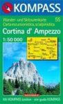 Cortina d'Ampezzo turistatérkép (WK 55) - Kompass